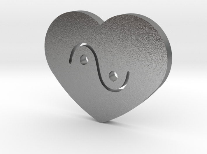 Moon-glyph-heart-water 3d printed