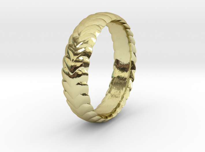 Hearts ring 15 mm 3d printed