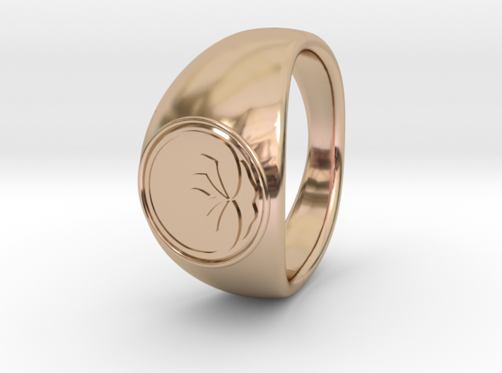 Ø0.666 inch/Ø16.92 mm Lotus Ring 3d printed