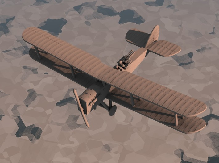 Airco D.H.9A (twin Lewis) 3d printed Computer render of 1:144 DH9A