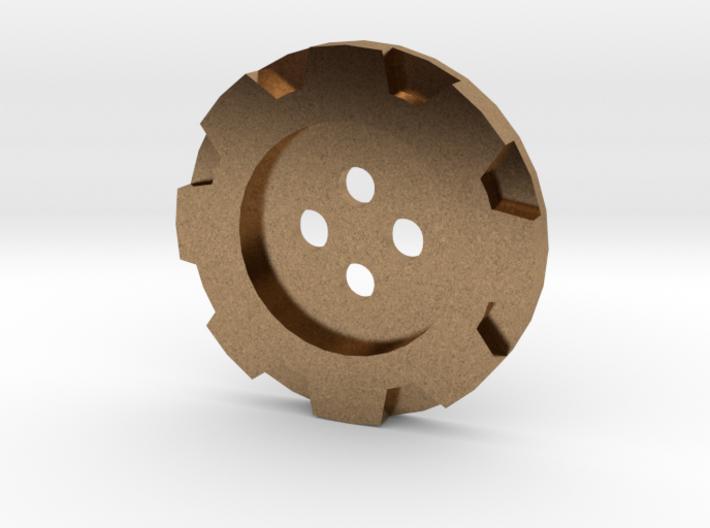 Steampunk Simple Gear Jacket Button (32 Lignes) 3d printed