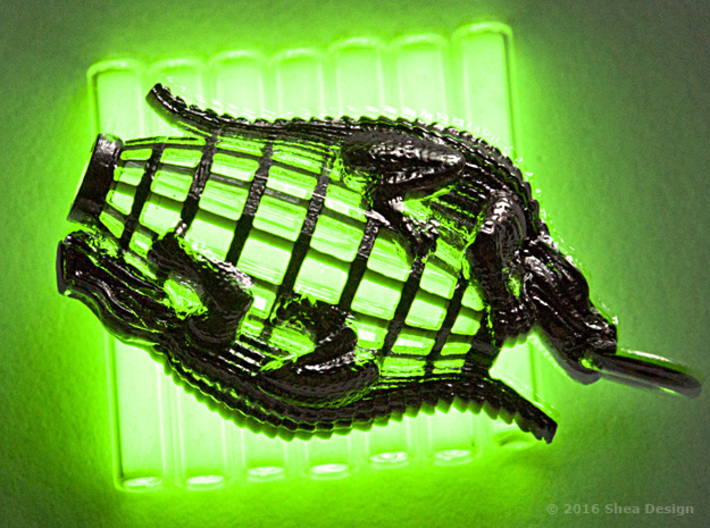 Tritium vial* holder with reptiles. *Not included. 3d printed