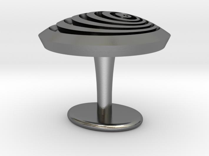 Vortex cufflinks 3d printed
