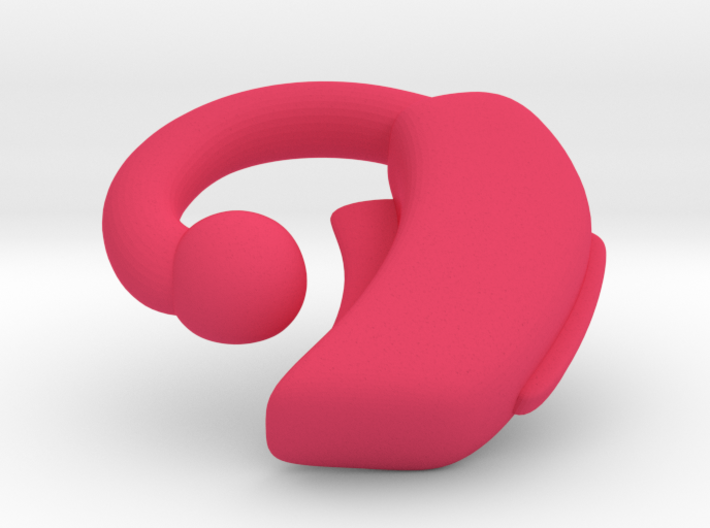Makies Hearing Aid: LEFT EAR 3d printed