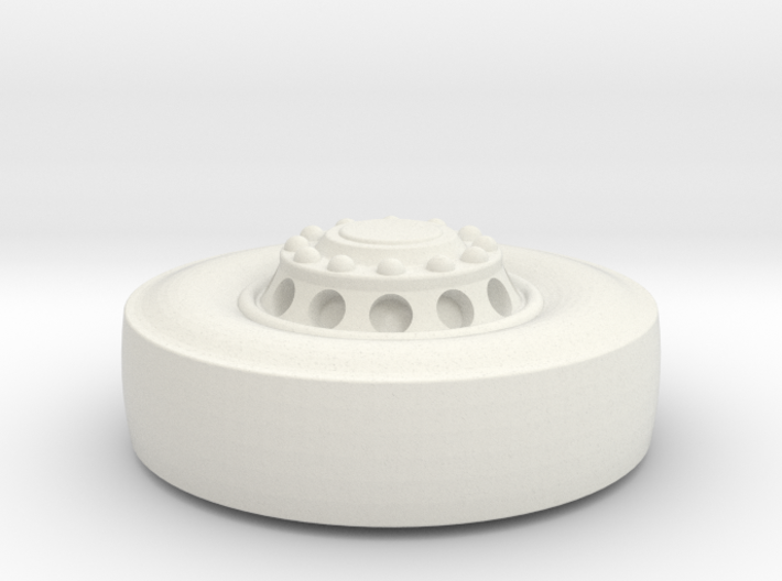 1-53rd Scale Front Tire And Rim2 3d printed