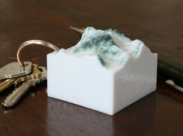 Mt. Everest, China/Nepal, 1:250000 3d printed Photo of Everest model at 1:250000, seen from the Northwest
