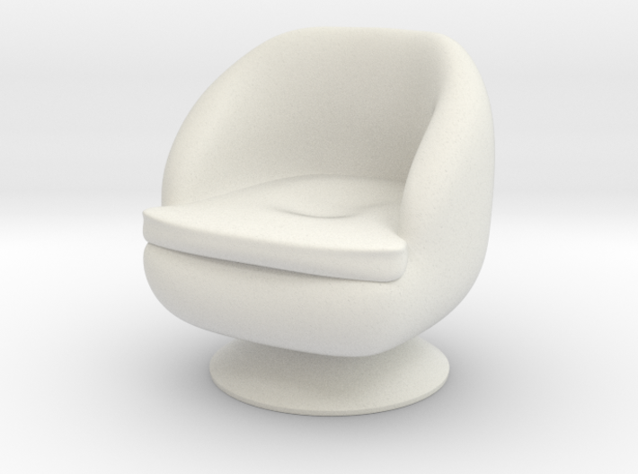 1/32 Girl sitting Chair Part of Chair 014 3d printed