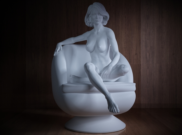 1/32 Girl sitting Chair Part of Girl 015 3d printed