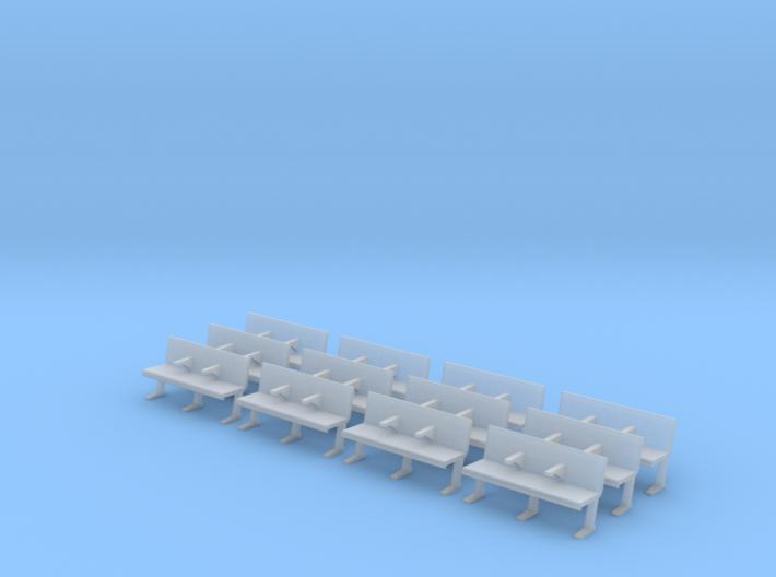 Modern Station Bench 3d printed