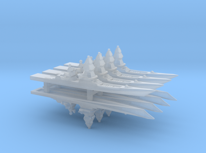Project 23560E Shkval Destroyer x 8, 1/6000 3d printed