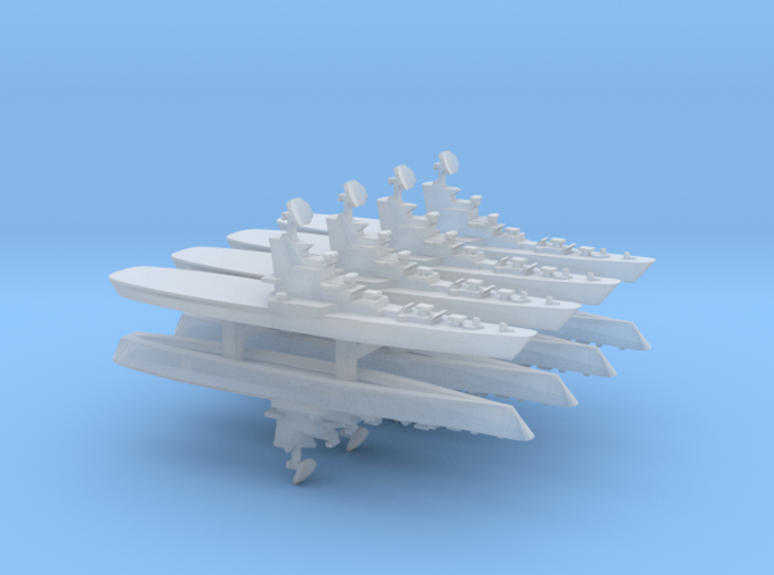 Moskva Class Helicopter Carrier x 8, 1/6000 3d printed