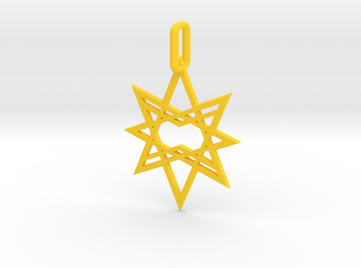 Double Octagon Star Pendant 3d printed