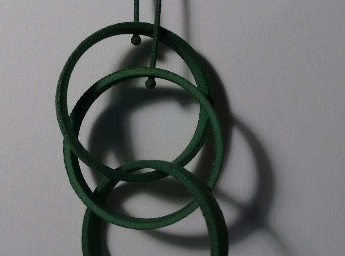Three Circles Earrings 3d printed