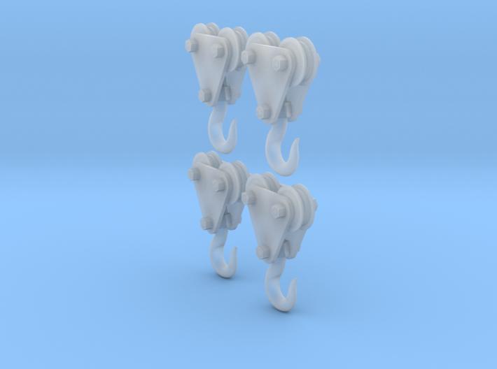 4 - 1/35 Crane Hooks 3d printed