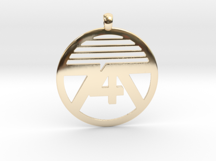 747 Necklace 3d printed