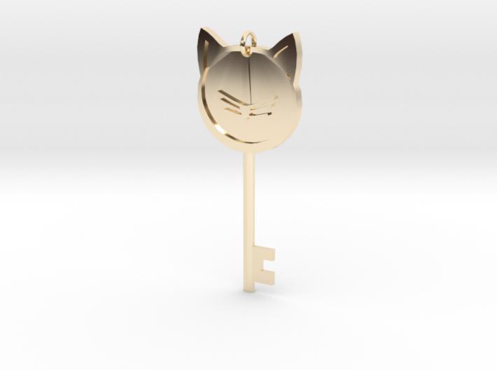 Cat Key Pendent 3d printed