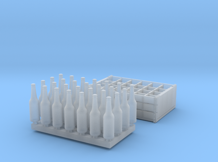 1:35 Bottles and Crates - 28 Bottles/1-Crate 3d printed