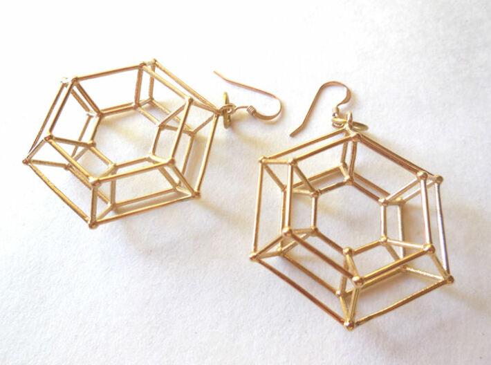 Steampunk Donut Earrings 3d printed