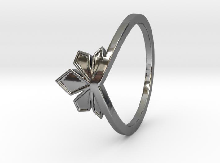 Couronne de cristaux Ring Design Ring Size 7.75 3d printed