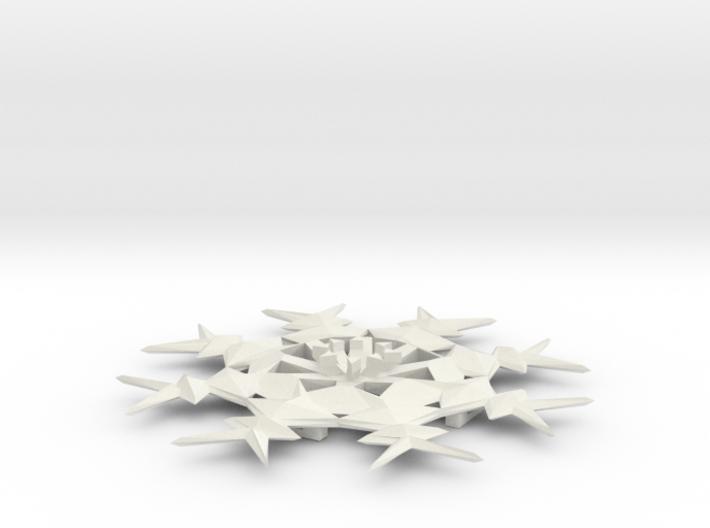 Snow Flake Hair Pendant 3d printed