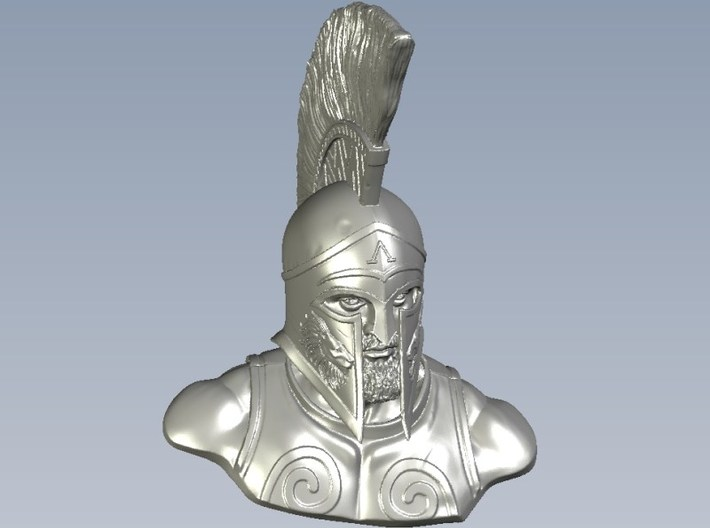 1/9 scale Leonidas I king of Sparta 480 BC bust 3d printed