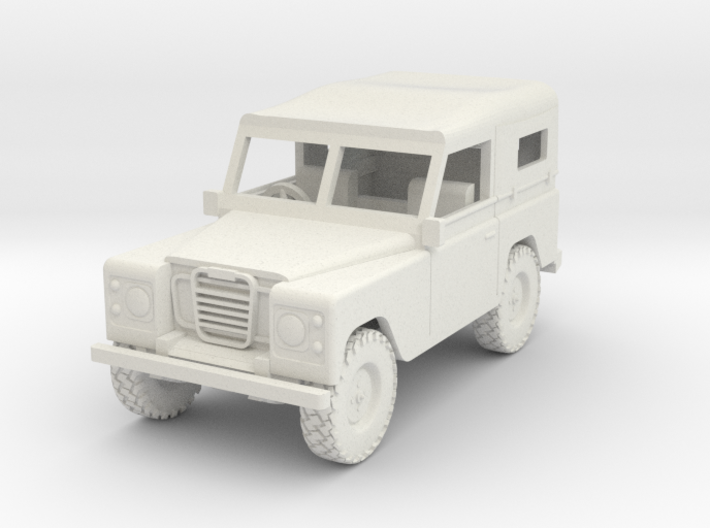 1/72 1:72 Scale Land Rover Soft Top Down Back 3d printed