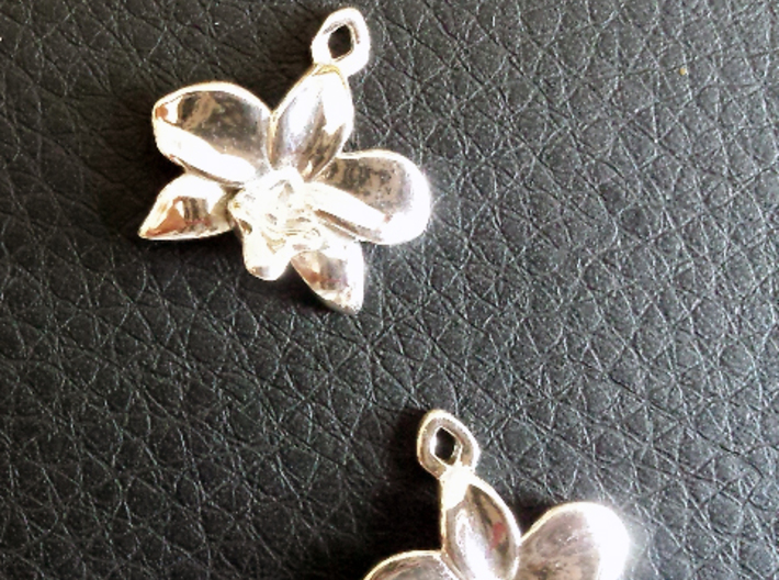 Orchid earring 3d printed