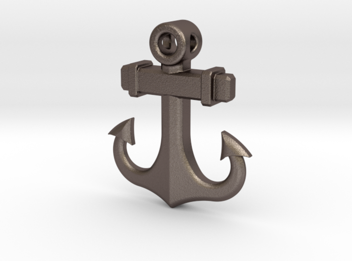 Anchor Pendant (CustomMaker) 3d printed