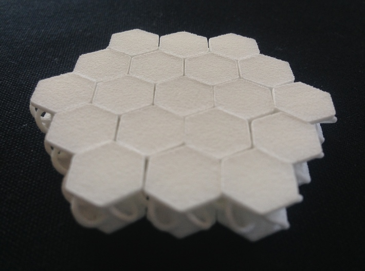 Hex_ conection_prototype.  3d printed