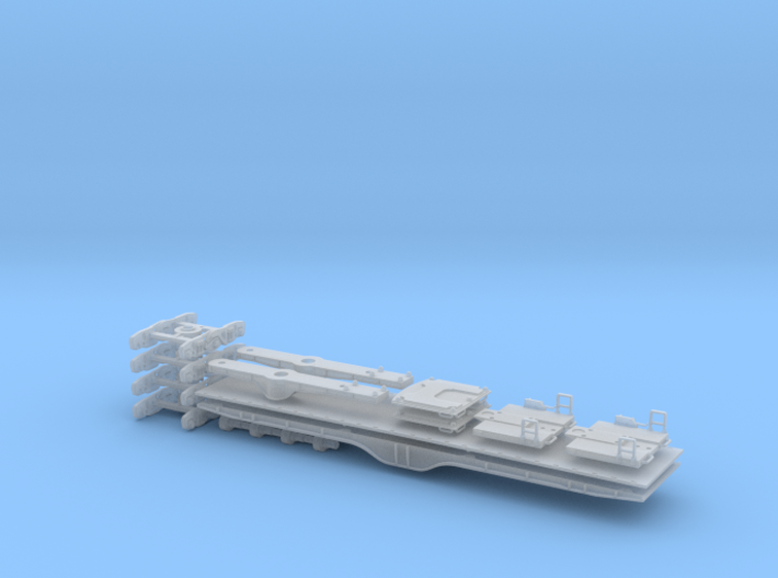 QTTX131600 Series 12-Axle Heavy Duty Flat Car 3d printed