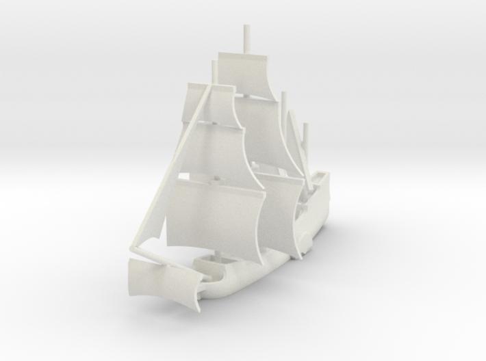 1/1000 Side-wheel Galleon 3d printed