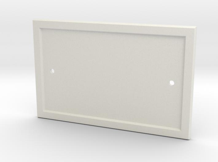 Blank Door Number Plaque 3d printed Blank Number Plaque