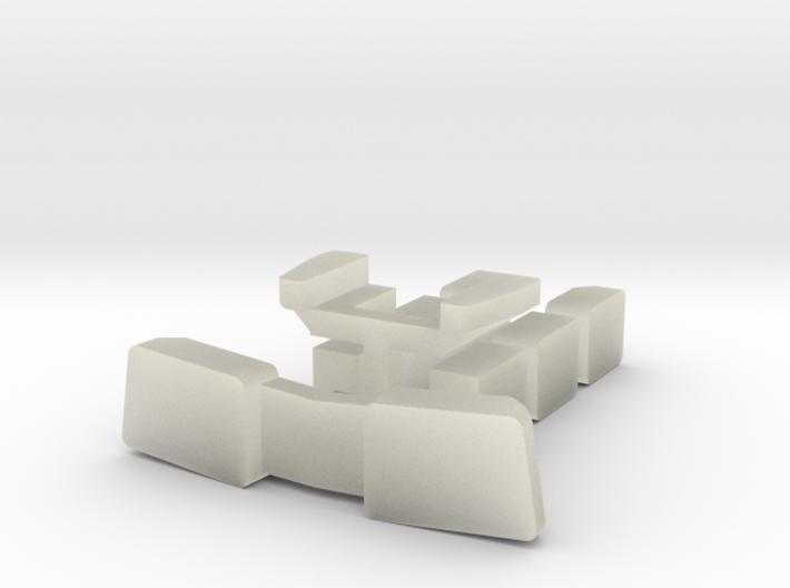 BQ23-7 Window Set Sprue 3d printed