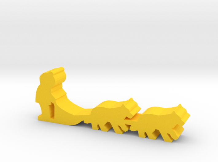 Game Piece, Dog Sled 3d printed