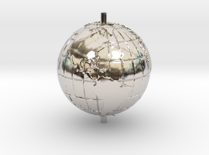 "World 1.25"" (Globe) 3d printed"