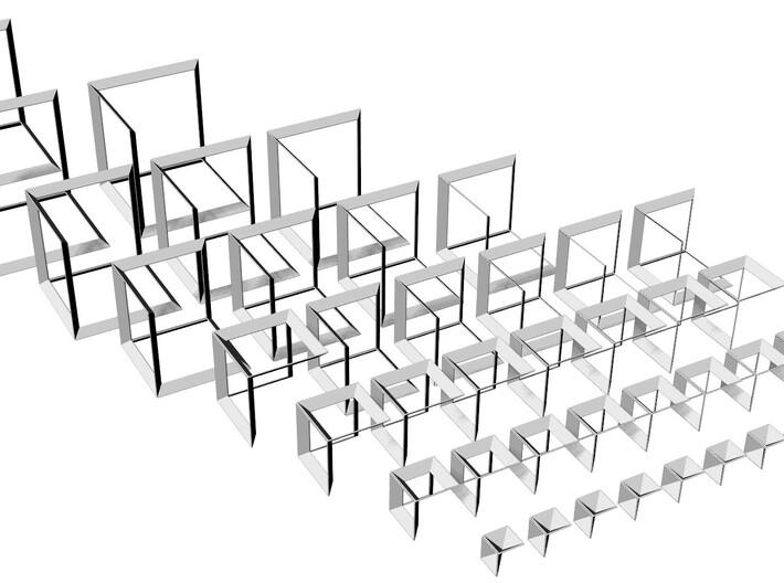 42 Hypercubes Pyramide6 3d printed
