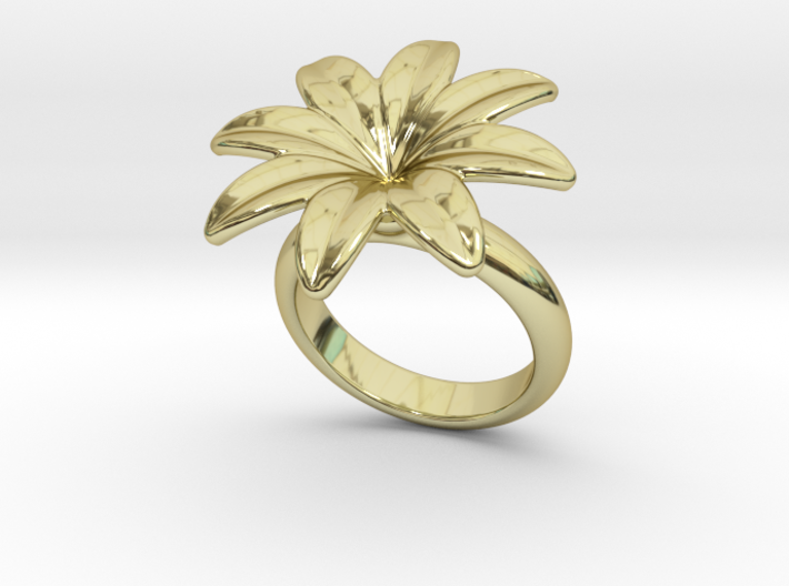Flowerfantasy Ring 14 - Italian Size 14 3d printed