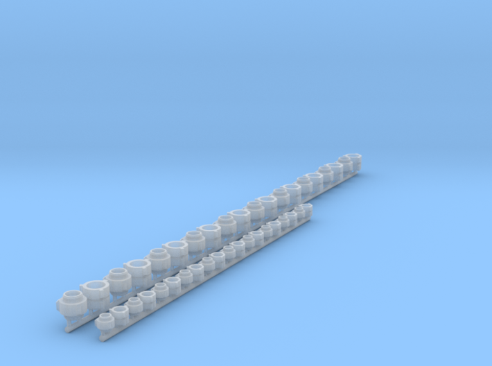 1/24 scale fire hose fittings m/m, f/f 3d printed