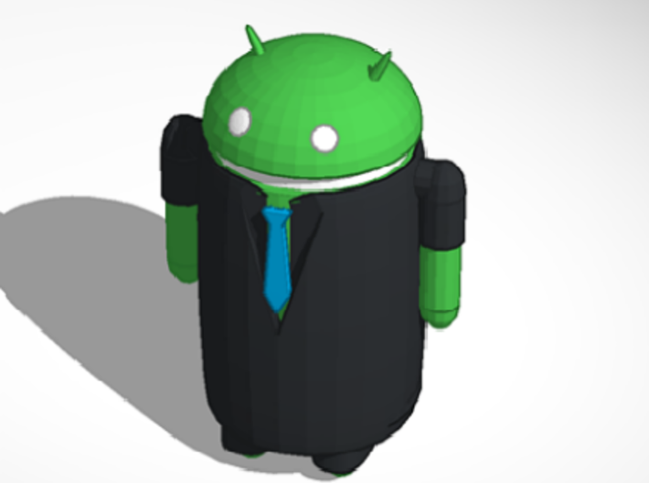 Android businessman 3d printed