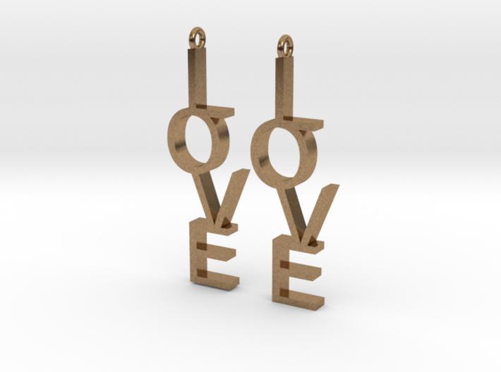 Love Earrings Small 3d printed