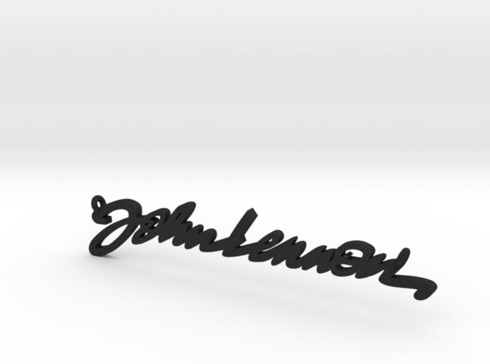 Lennon Signature Pendant 3d printed