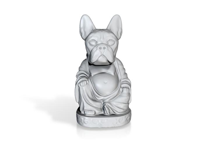 Frenchie Buddha Porcelain 3d printed