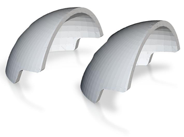 1:6 Scale Slaap Helmet Armor 2X 3d printed