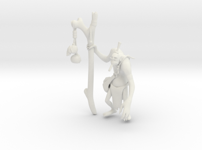 Witch Doctor 3d printed