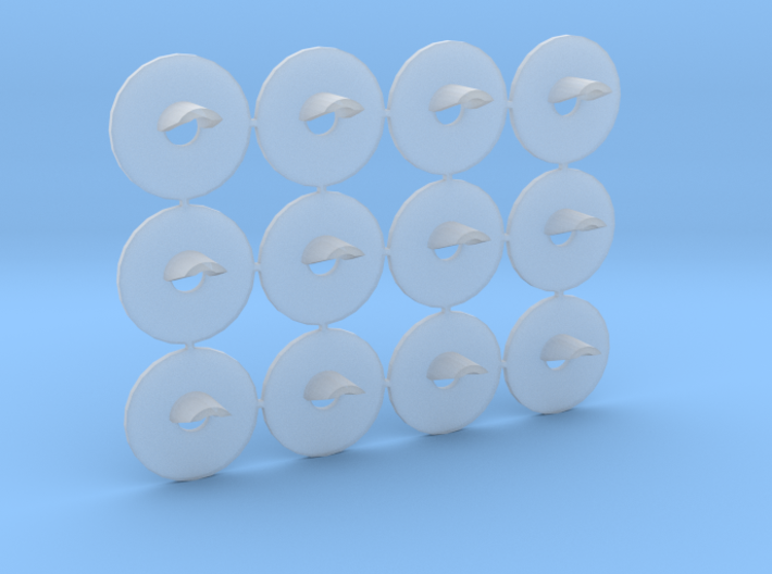 Proto N Scale (1:160) GRS Type D 1 Light Signal 3d printed