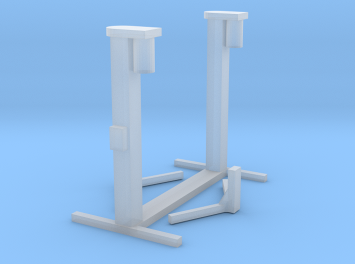 1:160 Spur N scale hydraulic ramp jack car lift 3d printed