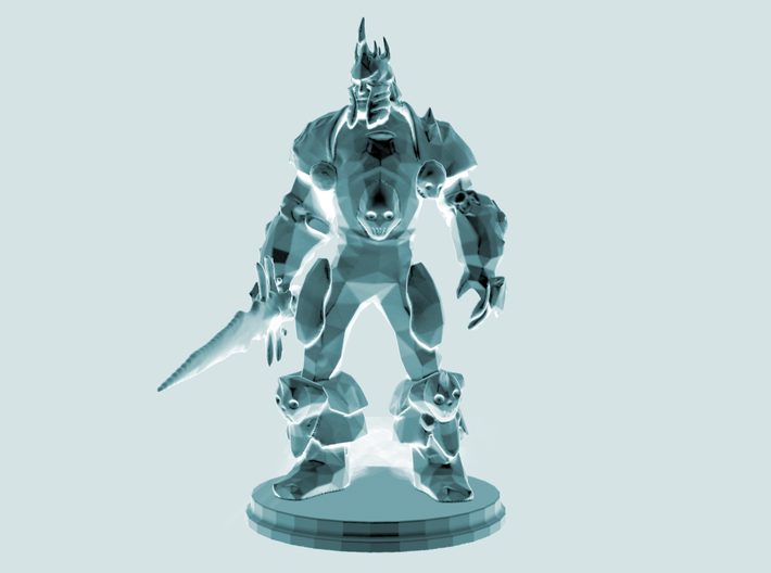 Arthas the Lich King from World of Warcraft 3d printed