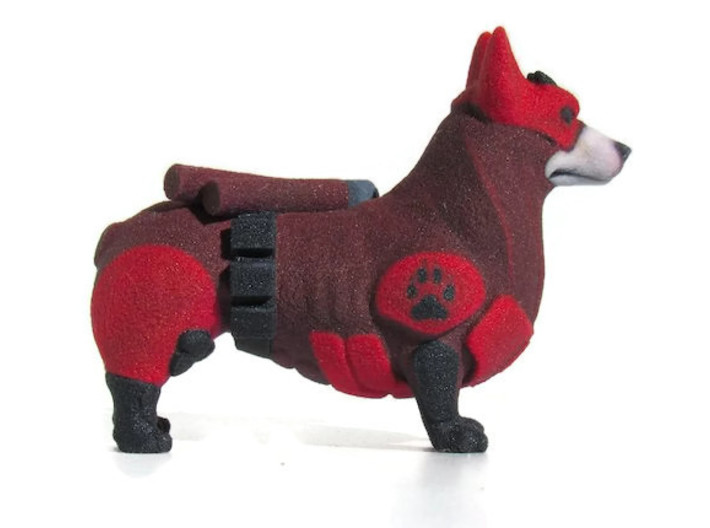 Daredevil Corgi (The Corgi Of Hell's Kitchen)  3d printed