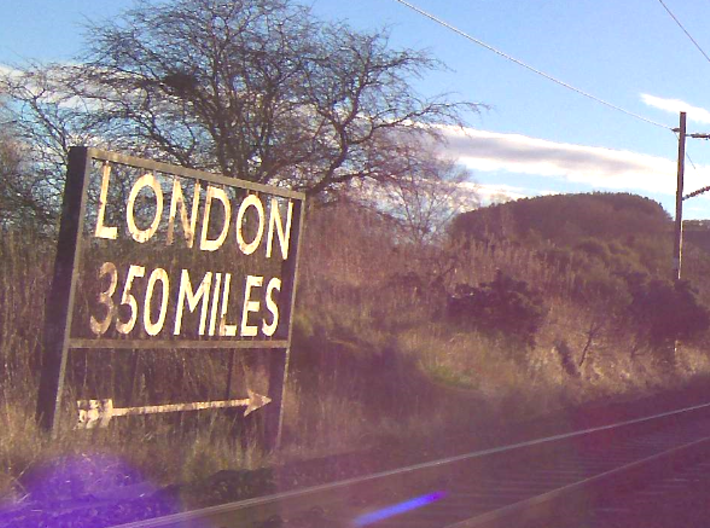 London 350 miles Sign 3d printed A picture of the real one!