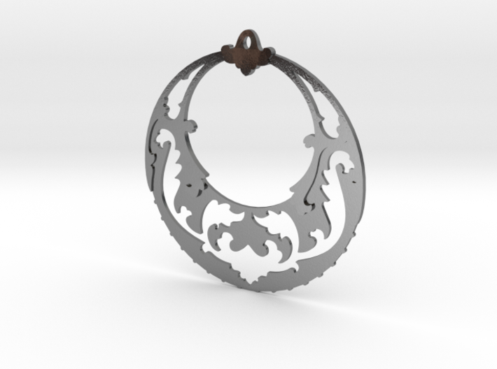 BlakOpal Victorian Open Hoop Earrings 3d printed